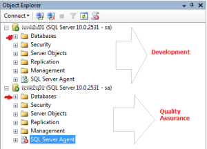 SQL Server Management Studio Object Explorer